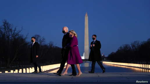 فور وصوله واشنطن.. بايدن يحضر مراسم لتكريم ضحايا كورونا