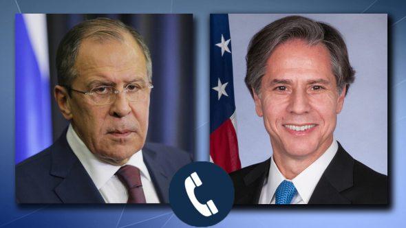 لافروف يؤكد في أول اتصال مع بلينكن استعداد روسيا لتطبيع العلاقات مع الولايات المتحدة
