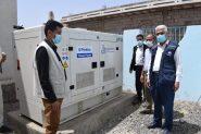 مكتب الصحة بتعز ( الحوبان ) يسلم مستشفى الفقيد حمود بنى عون ومركز الشفاء الصحي مولدات كهربائية بقدرة 45 كيلو وات