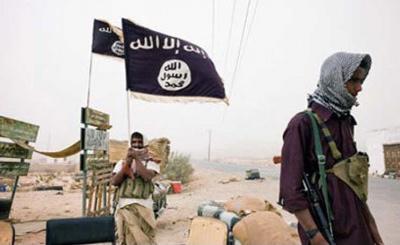 تنظيم القاعدة  الارهابي يتبنى العملية الإرهابية على مقر التحالف في بلحاف