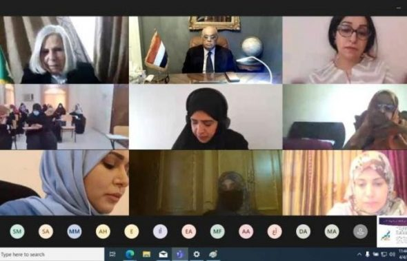 كلمة السفير رياض العبكري لدى الجامعة العربية بمناسبة افتتاح الدورة التدريبية التي تضم ٣٧ من منتسبات وزارة الخارجية