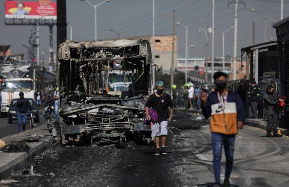 """تحذيرات أممية وأوروبية من استخدام """"القوة المفرطة"""" في احتجاجات كولومبيا"""